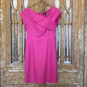 J. Crew Pink Origami Sheath Dress WOOL 6 EXCELLENT